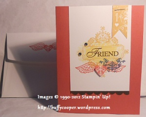 Affection Collection card, Stampin' Up Convention 2012