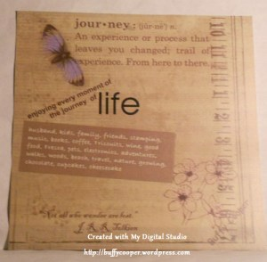 About Me scrapbook page, Stampin' Up!, My Digital Studio, Buffy Cooper