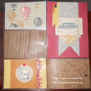 You're Amazing scrapbook page, Divided page projectors