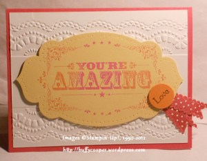 You're Amazing, Pennant Parade, Stampin' Up!, embossing