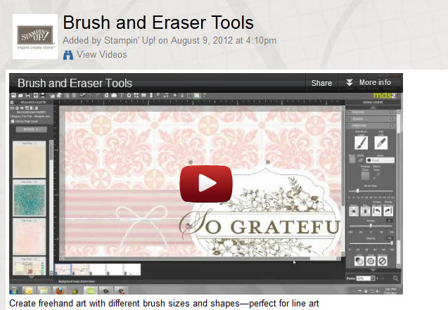MDS2, Brush and Eraser tools, video, Stampin' Up!