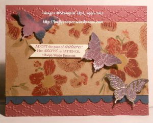 Nature's Pace, Papillon Potpourri, Natural Composition specialty paper, Stampin' Up!, Annual Catalog, Holiday Catalog