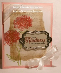 Field Flowers, From My Heart, Stampin' Up!, sponging, masking