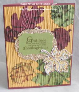 Autumn Accents, Big Shot, Sizzix, Stampin' Up!, Day of Gratitude, Gently Falling