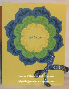 Fall blog hop, daydream medallions, Stampin' Up, sizzix, floral framelits, back to school