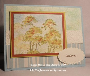 Serene Silhouettes, Teeny Tiny Wishes, Stampin' Up, sponging