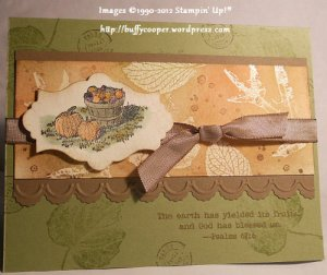 Harvest Blessings, French Foliage, Stampin' Up!, Big Shot, Thanksgiving