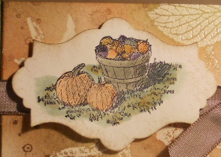 French Foliage, Harvest Blessings, Stampin' Up, Emboss Resist