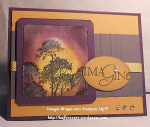 Serene Silhouettes, Stampin' Up, Word Play, Moonlight