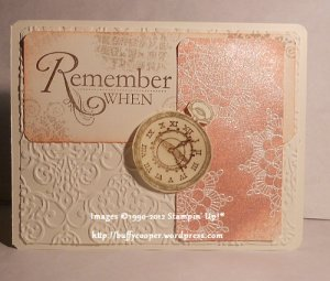 Word Play, Delicate Doilies, Clockworks, sketch challenge, Big Shot, Stampin' Up!, Sizzix