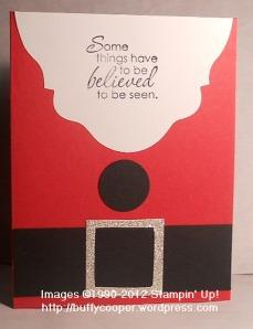Just Believe, Santa, Stampin' Up, Big Shot, Christmas, Holiday
