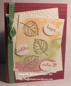 Gently Falling, Fabulous Phrases, techniques, clear blocks, Stampin' Up!