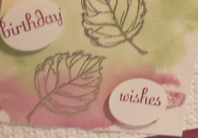 Gently Falling, Fabulous Phrases, techniques, Stampin' Up!, clear acrylic blocks