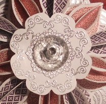 Delicate Doilies, Daydream Medallions, Ornament Keepsakes, Sizzix, Stampin' Up, Big Shot, Holiday, Christmas