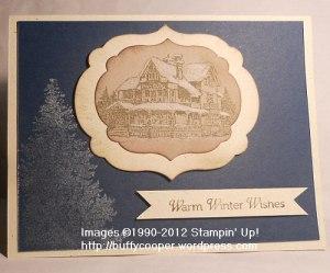 Christmas Lodge, Wiinter Memories, Stampin' Up, Big Shot, holiday, Christmas