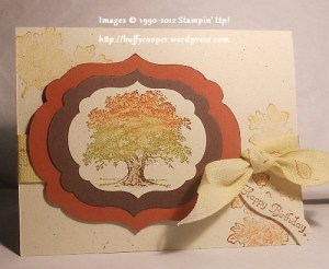 Lovely as a Tree, Stampin' Up, framelits, Big Shot, birthday