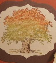 Lovely as a Tree, Stampin' Up, Big Shot, Framelits