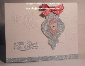 Holiday Ornaments framelits, Stampin' Up, Big Shot, Bells & Boughs, Christmas, Glimmer paper