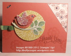 Betsy's Blossoms, In Colors, Stampin' Up, thank you cards