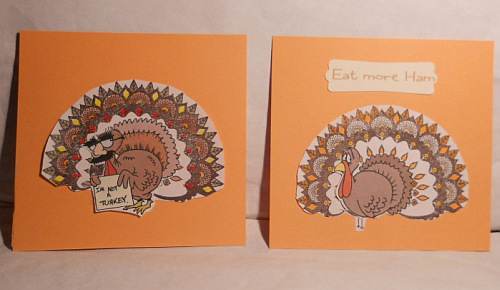 Peacock, Stampin' Up, Thanksgiving, Single Stamps, turkey