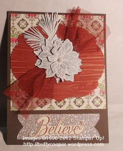 Watercolor Winter, glimmer paper, c'ordinations, Stampin' Up, Holiday, Christmas