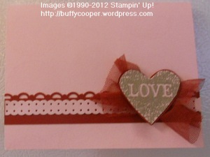 Stampin' Up, Single Stamps, Valentines, Love Heart, heat embossing