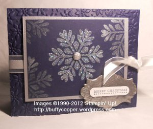 Snowflake single stamp, Stampin' Up, Christmas, Holiday card, Big Shot