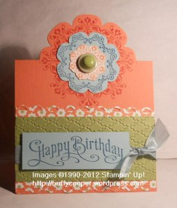 Partial cut, framelits, Stampin' Up, daydream medallions, birthday cards