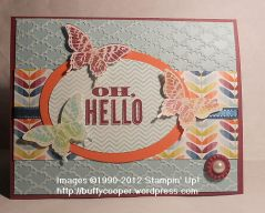 Oh, Hello, Papillon Potpourri, Stampin' Up, Spring Catalog, butterflies, core'dinations, sale-a-bration