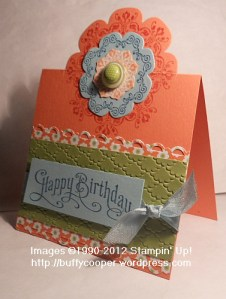 Partial cuts with framelits, tutorial, stampin' up, daydream medallions, Big Shot, sizzix