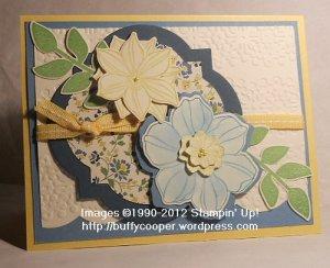 Secret Garden, Window Frames, Stampin' Up demonstrator, Spring catalog