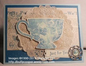 Tea Shoppe, Tea for Two, Spring Catalog, Stampin' Up!, Winchester, VA, stamping, rubber stamping