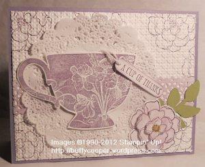 Tea Shoppe, Doilies, Wisteria Wonder, Secret Garden, Stampin' Up Spring Catalog