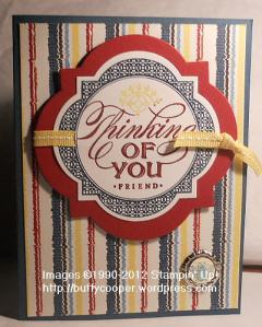 Just Thinking, Stampin' Up! demonstrator, Spring Catalog, Parker's Patterns
