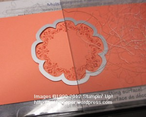 Partial cutting with framelits, tutorial, Stampin' Up, daydream medallions