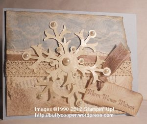 Winter Memories, Snowflake die, Fan Fair, Stampin' Up!, First Edition, vintage, Christmas, collage, holidays, cards, crafting, stamping