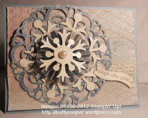 New Year, Doilies, Snowflakes, Medallion, Snow Flurry, designer paper, glitter, stamping, Stampin' Up, crafts. blog hop