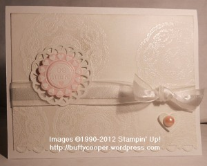 Valentines, White on White, Stampin' Up, cards, holidays, vintage, doilies, Mixed Medley, Gossamer Lace, pearls and lace