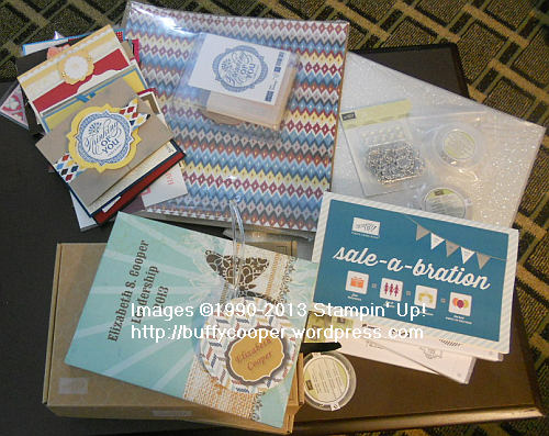 Stampin' Up! Leadership 2013, Free products!, silver, brads, buttons, trinkets