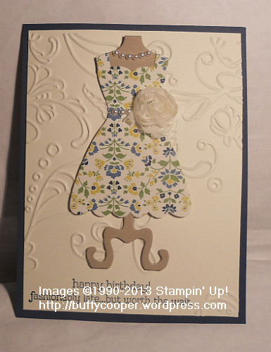 Susan Nygaard, Stampin' Up!, Leadership 2013, swaps, All Dressed Up