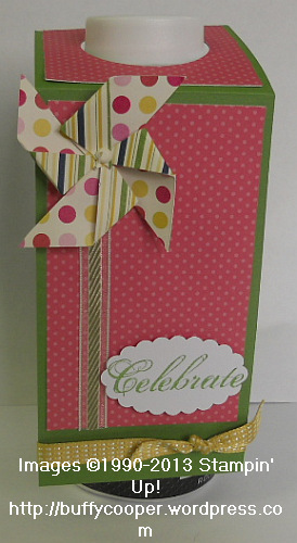 Bottle Topper, Sweet Threads Simply Sent, Stampin' Up! Spring Catalog, Pinwheel, Big Shot