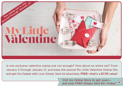 My Little Valentine Promotion, Stampin' Up!