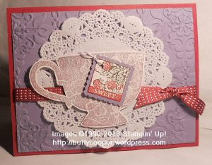 Tea Shoppe, Pretty Postage, Raspberry Ripple, Stampin' Up!