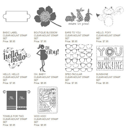 Single stamps, Stampin' Up!, limited time