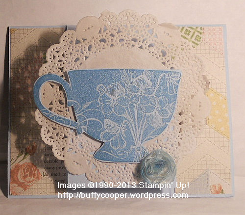 Tea Shoppe, Tea for Two, Mom, birthday, easel card, Stampin' Up