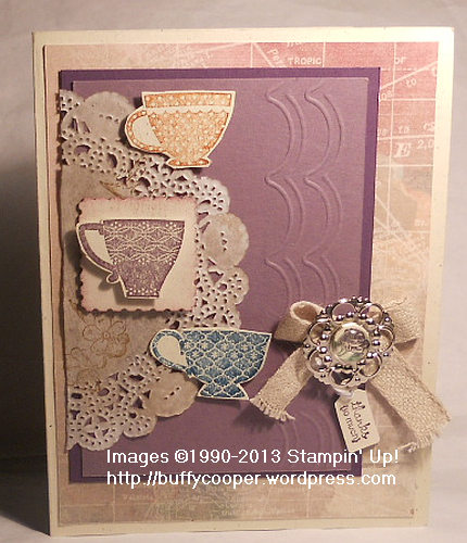 Tea Shoppe, Simply Scored, Stampin' Up spring catalog, designer builder brads