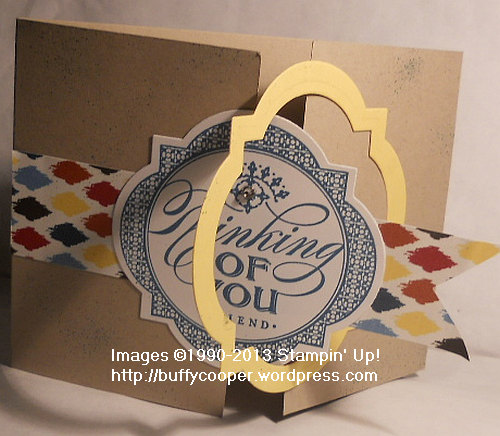 Just Thinking, Stampin' Up! Leadership 2013, Swaps, Angela Waters, gatefold cards