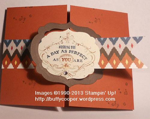 Gatefold, Vintage Verses, Native American, Stampin' Up!, framelits