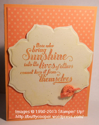 Feel Goods, Stampin' Up Spring Catalog, Framelit embossing