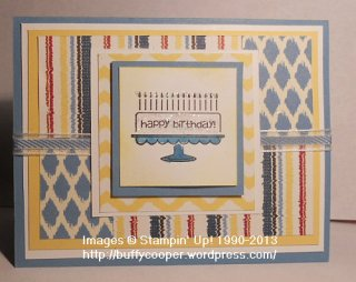 Bring on the Cake, Stampin' Up!, Sketch Challenge, Parker's Patterns